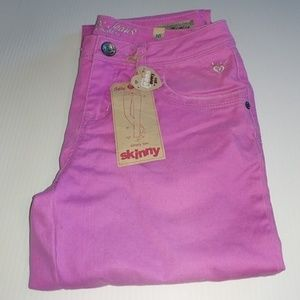 JUSTICE Skinny 16 Regular Jeans Girls Orchid Pink